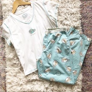 Life is Good | Tea Cup PJ Set T-Shirt and Pants S